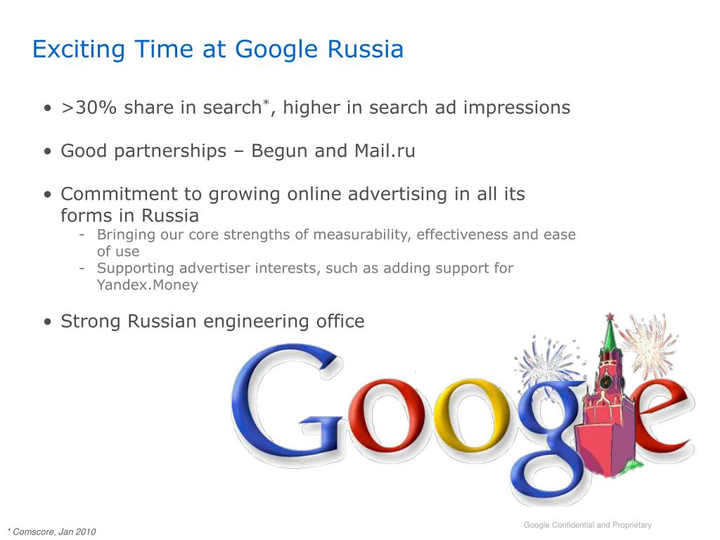 Exciting Time at Google Russia