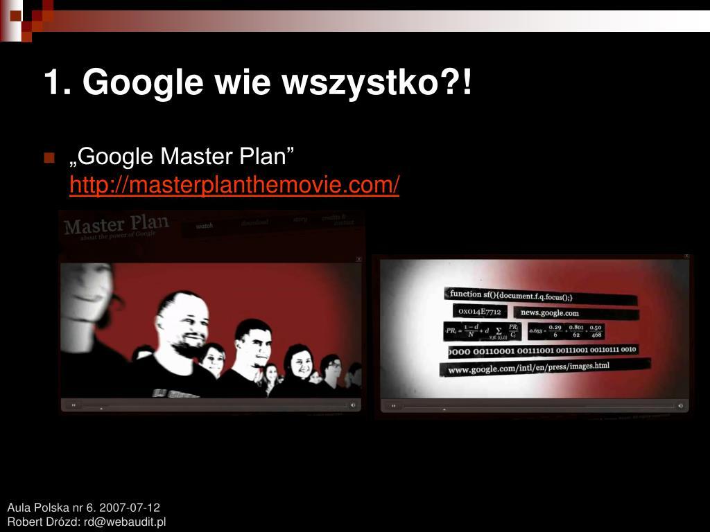 1. Google wie wszystko?!