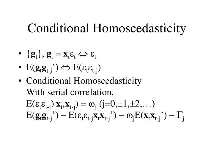 Conditional Homoscedasticity