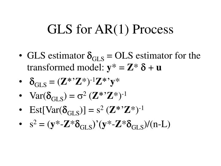 GLS for AR(1) Process