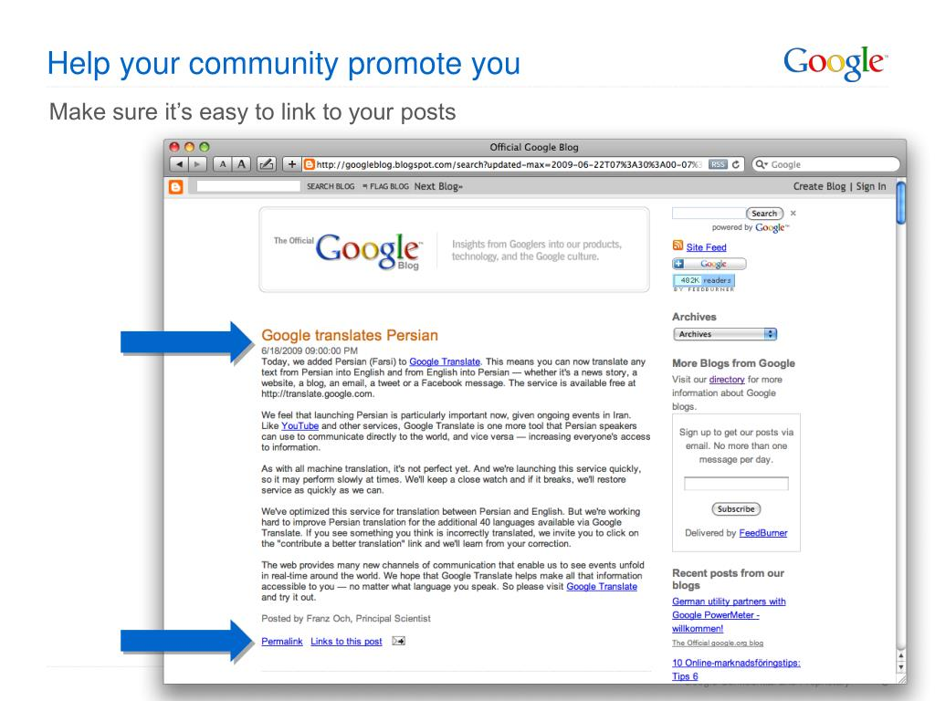 Help your community promote you