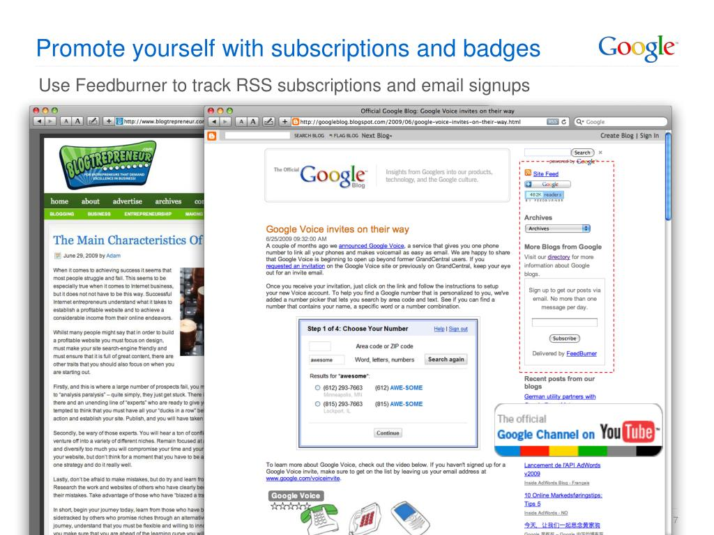 Promote yourself with subscriptions and badges