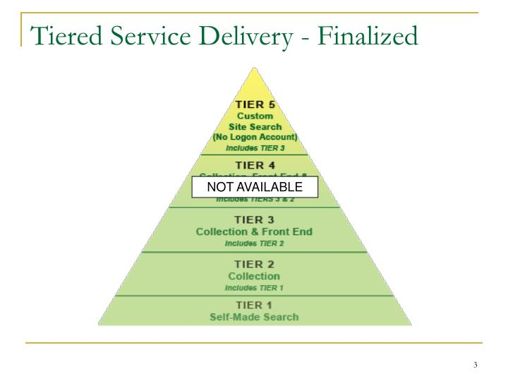 Tiered service delivery finalized