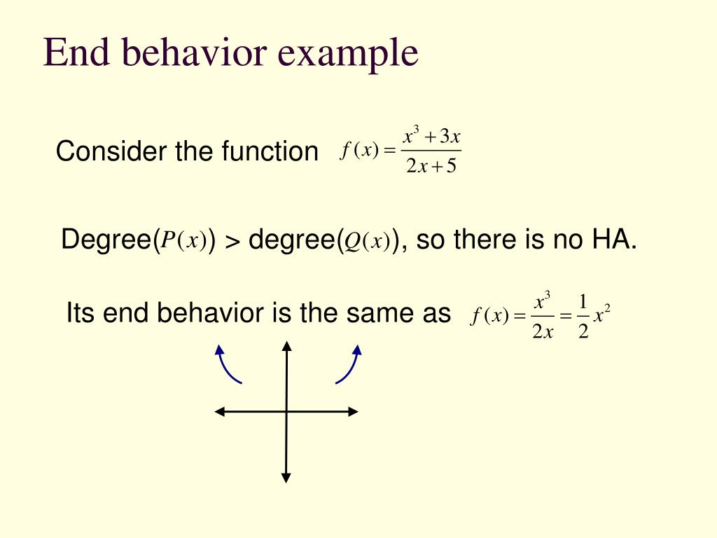 End behavior example