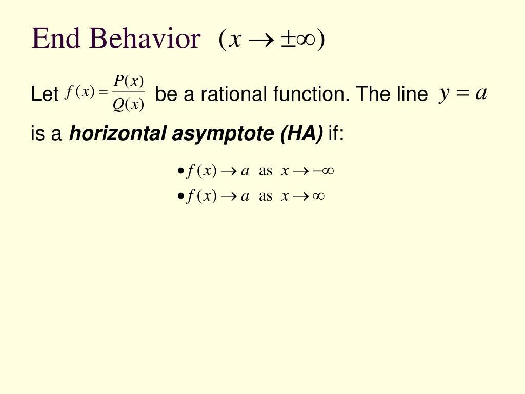 End Behavior