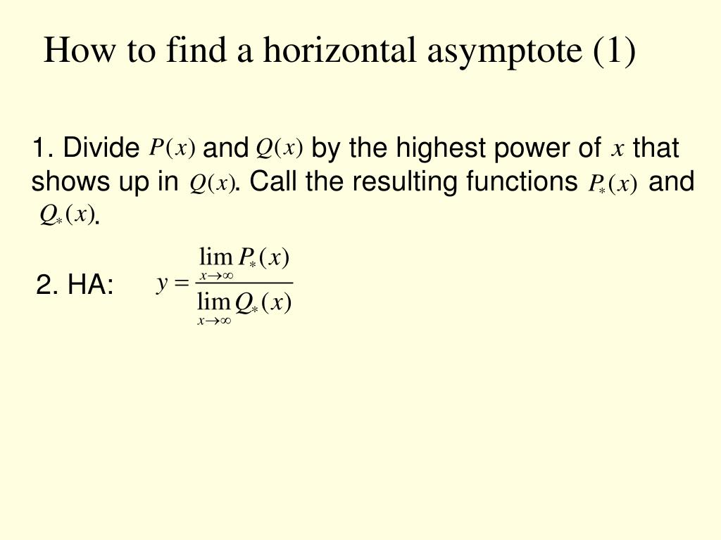How to find a horizontal asymptote (1)