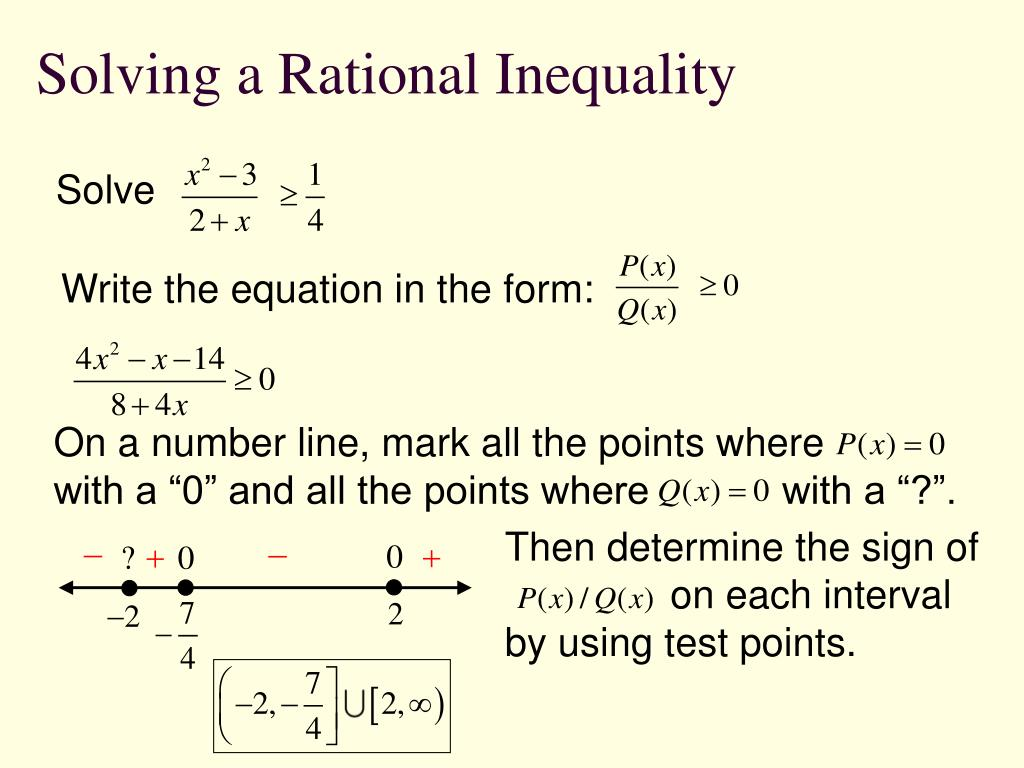 Solving a Rational Inequality
