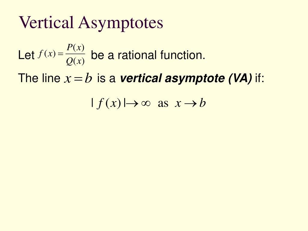 Vertical Asymptotes