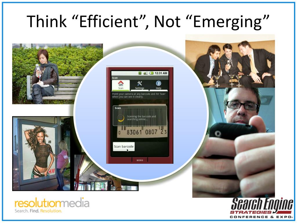 """Think """"Efficient"""", Not """"Emerging"""""""