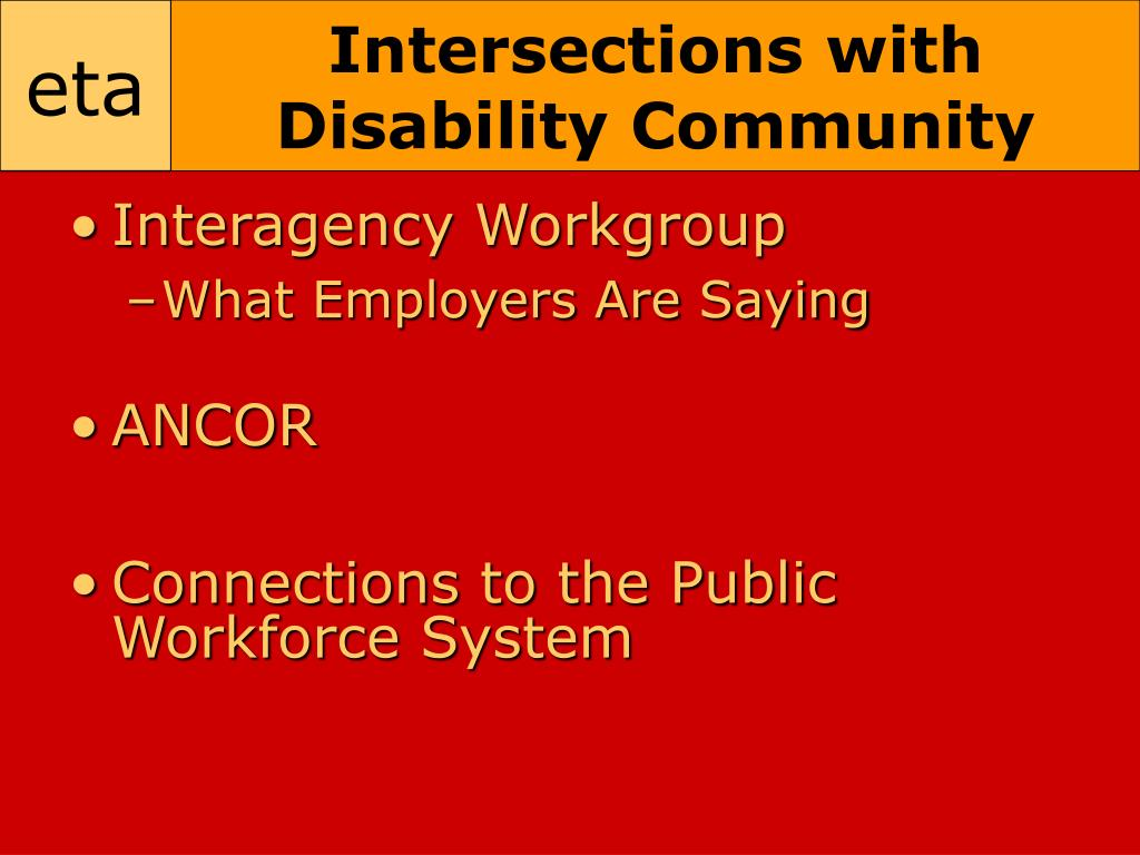 Intersections with Disability Community