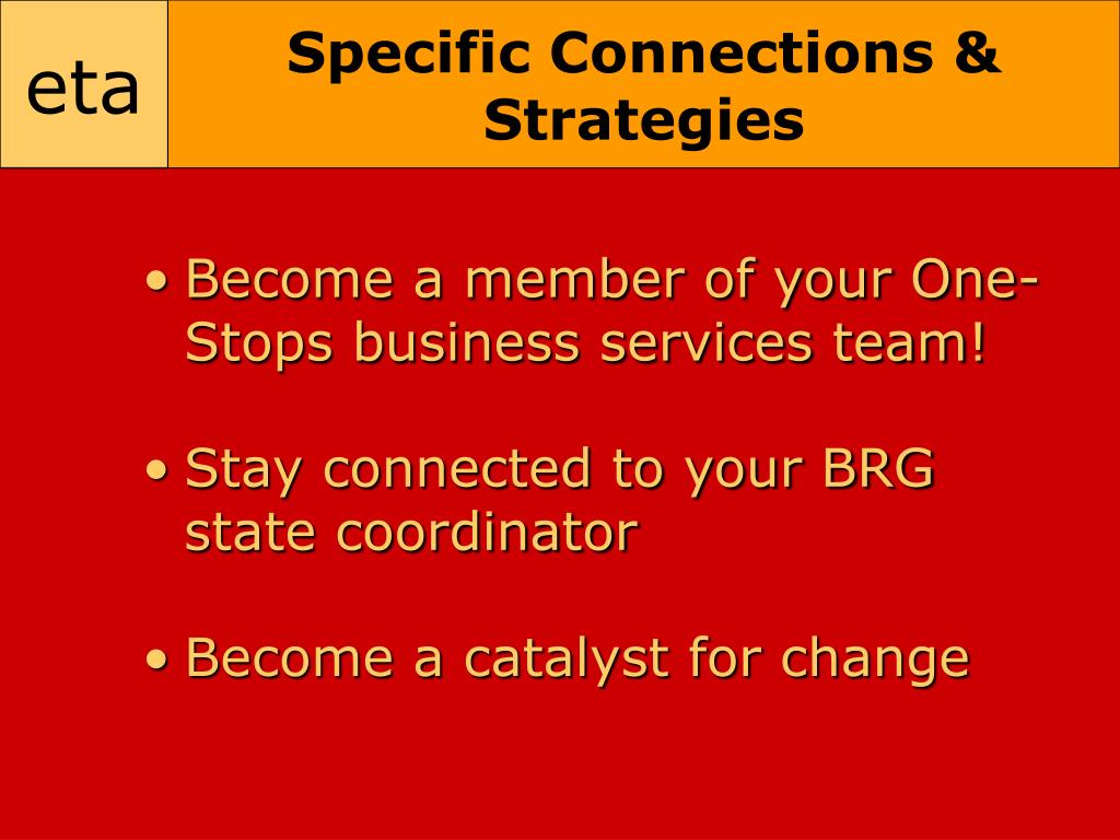 Specific Connections & Strategies