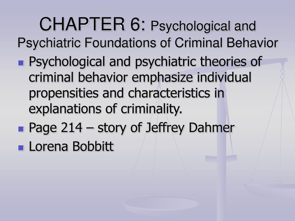 psychology and criminal behaviour dissertation Gain a broad understanding of the intersection between forensic psychology and criminal justice fields  criminal justice self-designed  of criminal behavior .