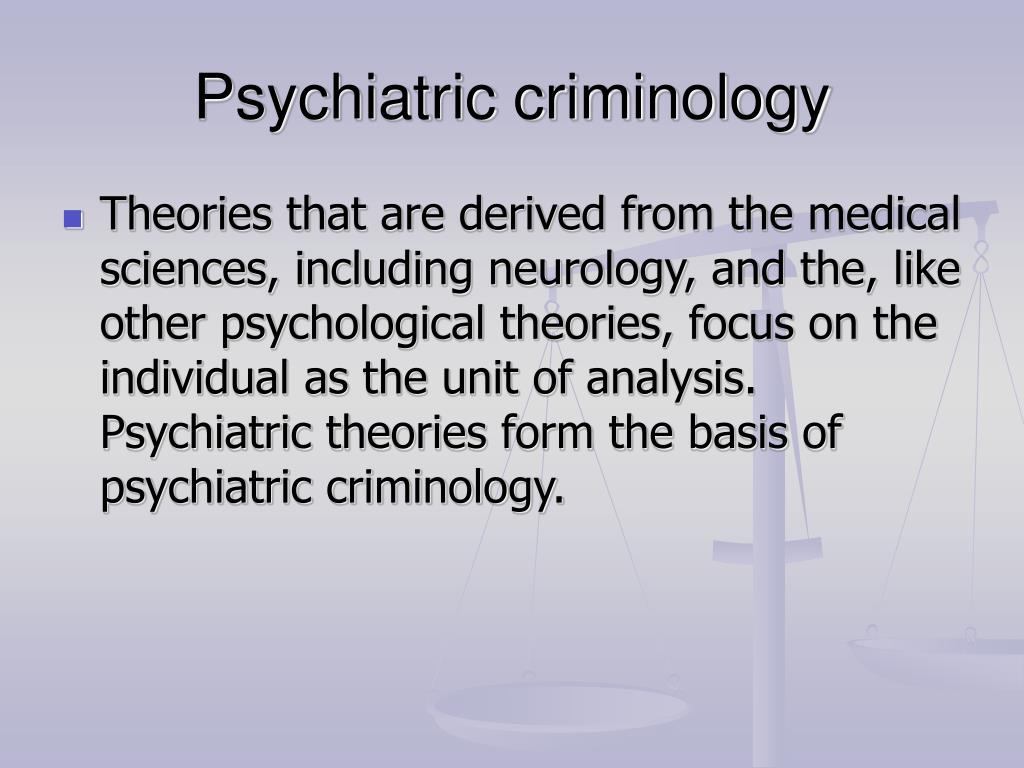 criminology theories Unlike most criminology theories that purport to explain why people offend, control theory offers the justification for why people obey rules control theory provides an explanation for how behavior conforms to that which is generally expected in society some control theories emphasize the.
