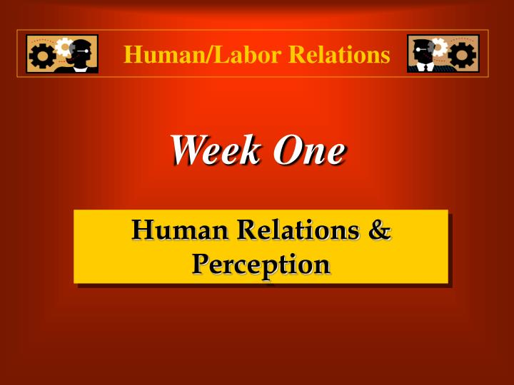 Human labor relations