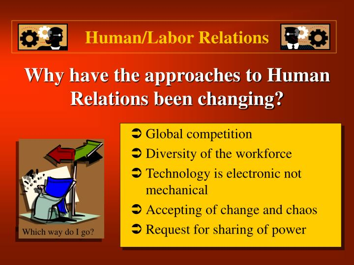 Why have the approaches to human relations been changing l.jpg