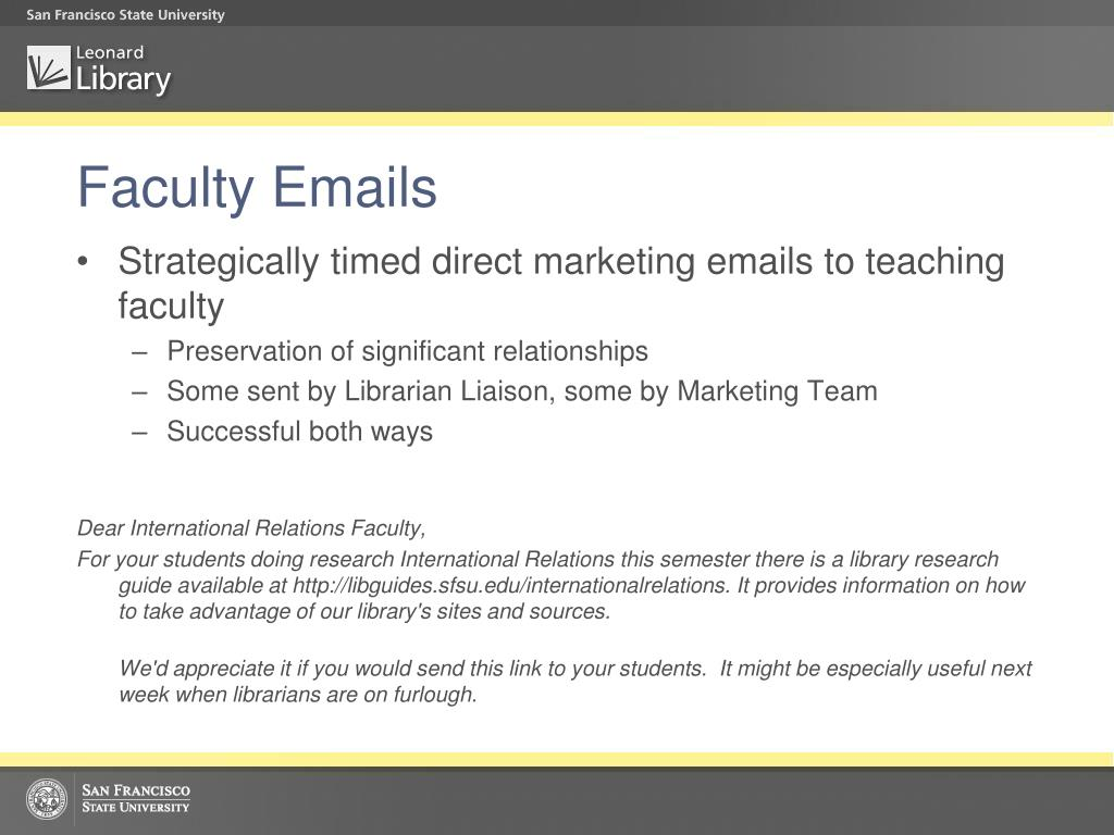 Faculty Emails