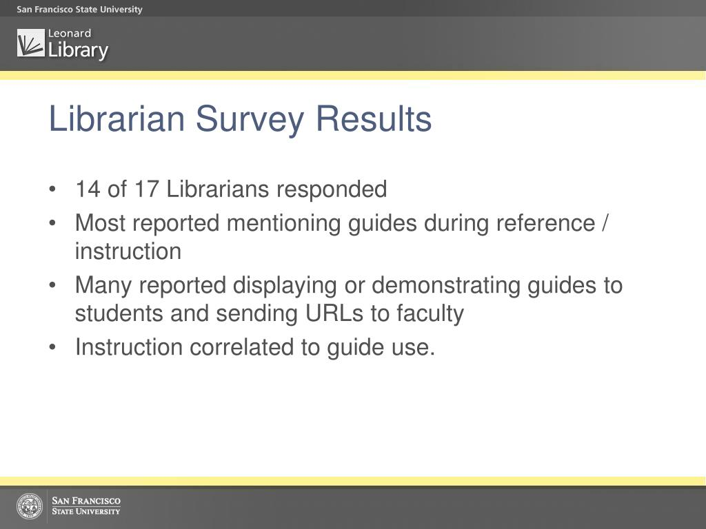 Librarian Survey Results