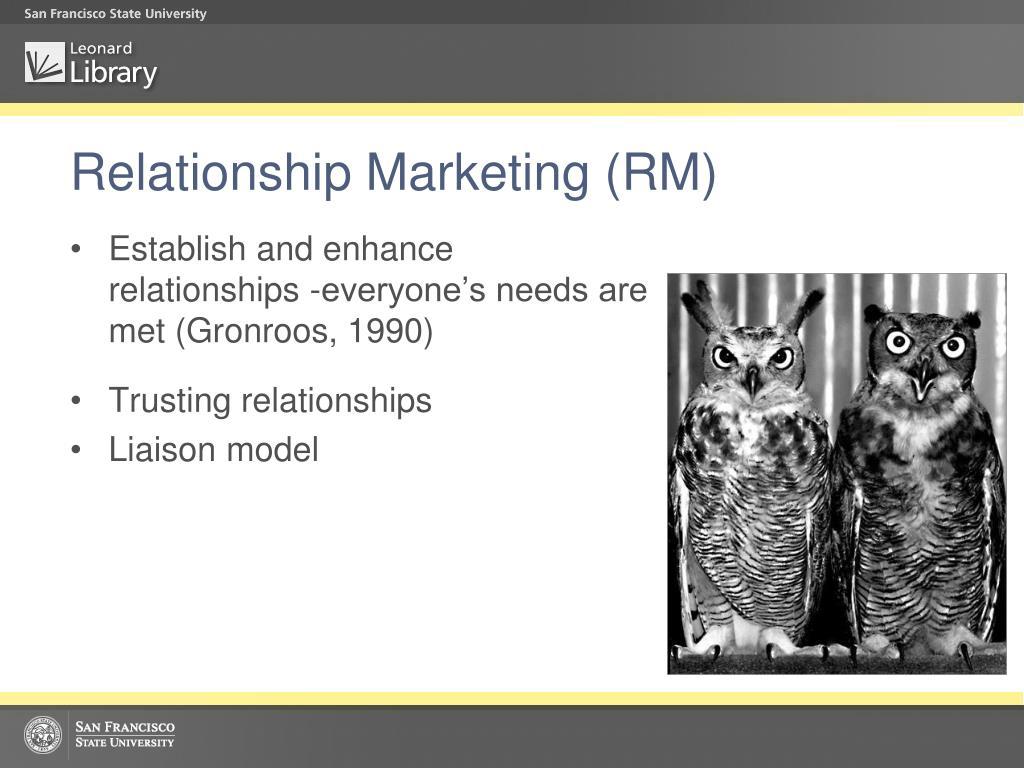 Relationship Marketing (RM)
