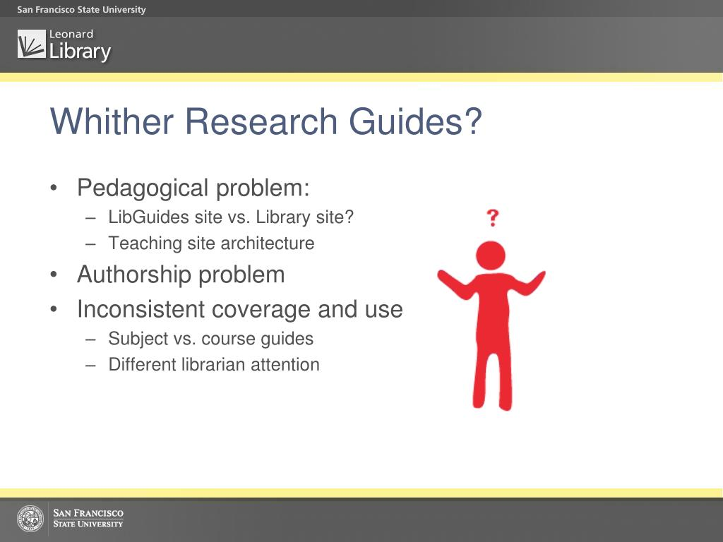 Whither Research Guides?