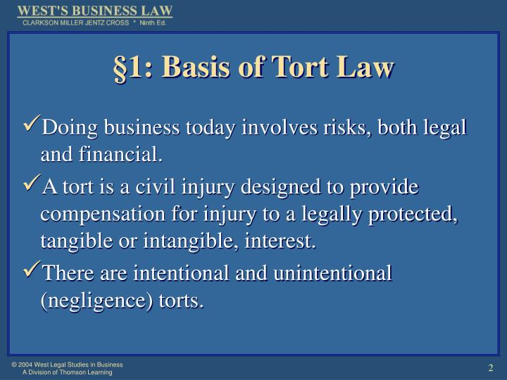 1 basis of tort law