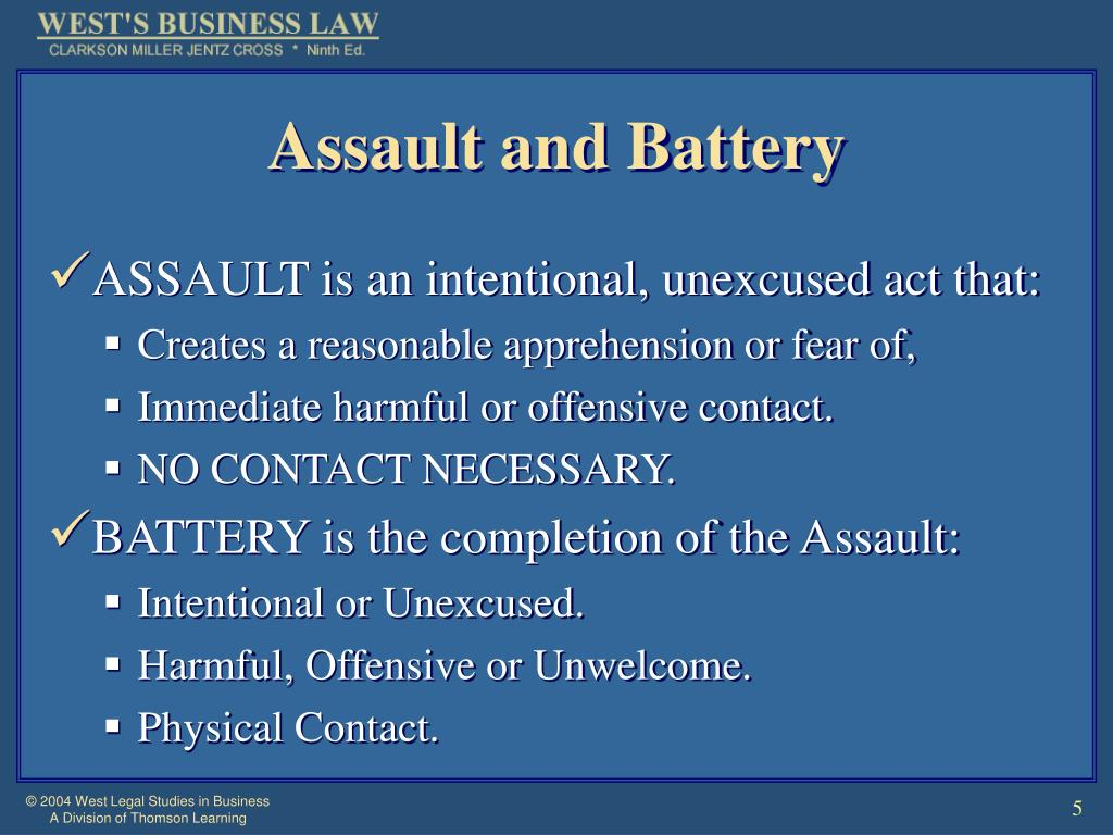 Assault and Battery
