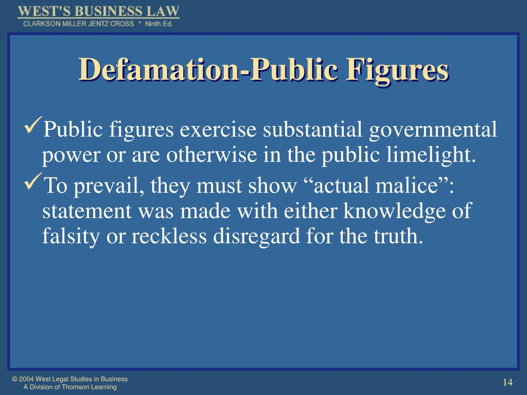 Defamation-Public Figures