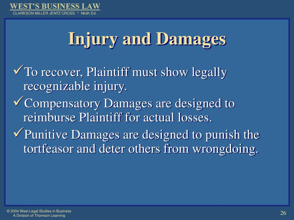 Injury and Damages
