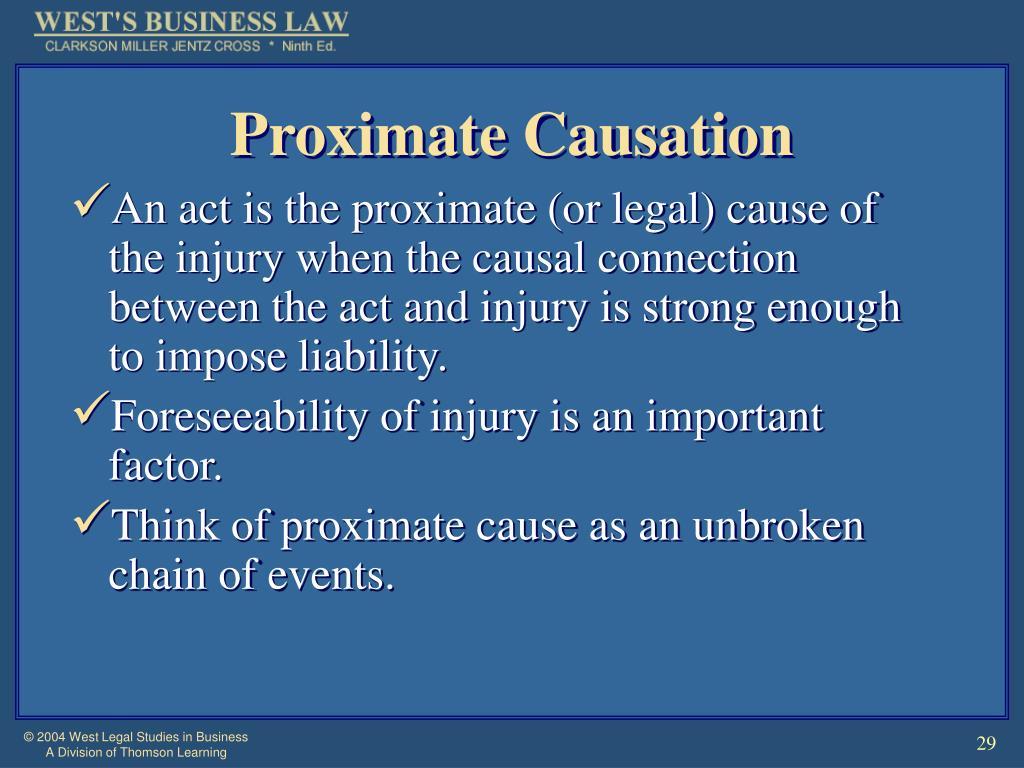 Proximate Causation