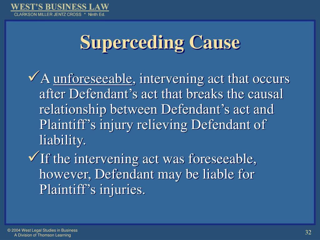 Superceding Cause