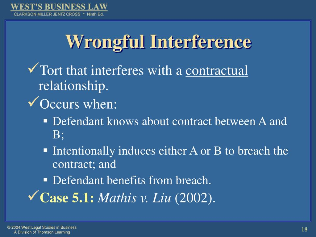 Wrongful Interference