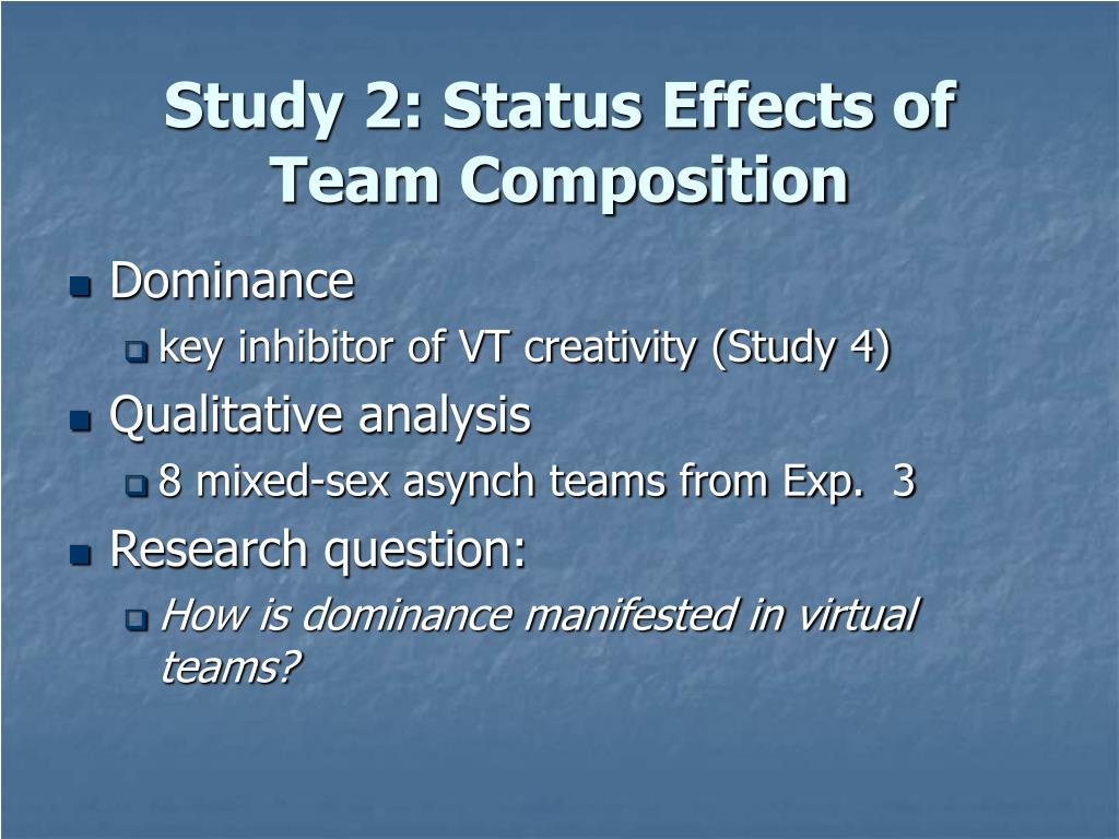 Study 2: Status Effects of
