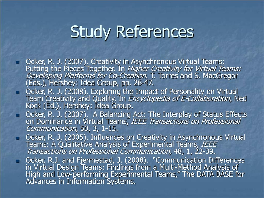 Study References