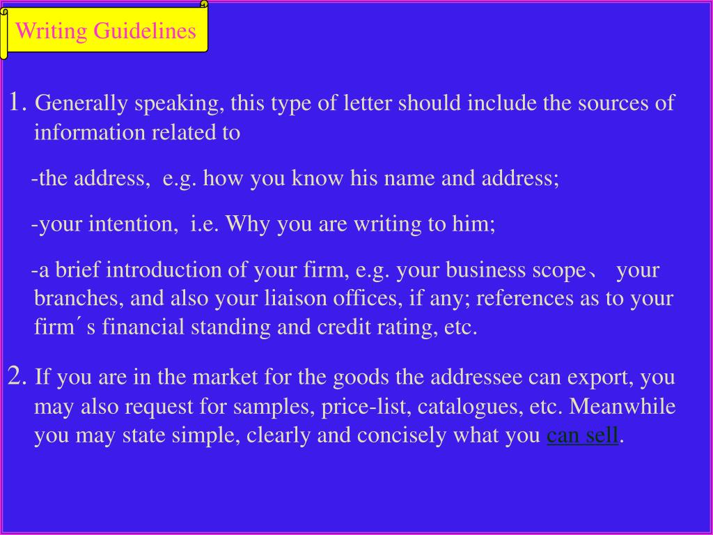 Writing Guidelines