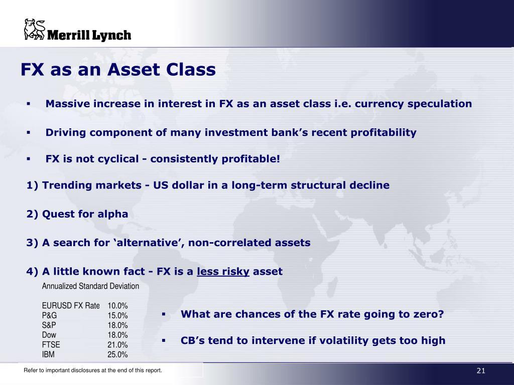 FX as an Asset Class