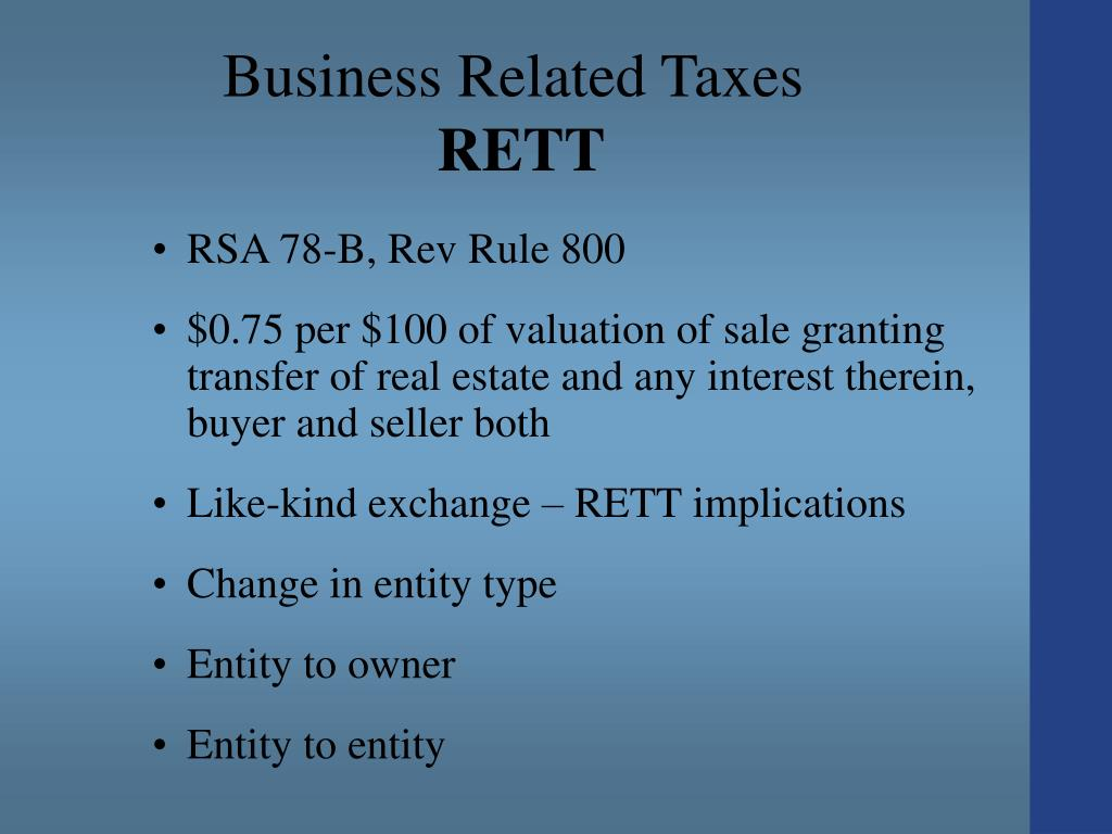 Business Related Taxes
