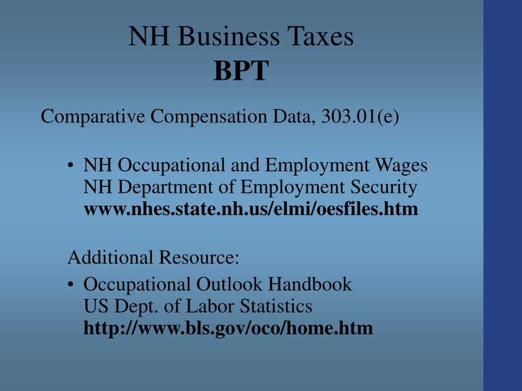 NH Business Taxes