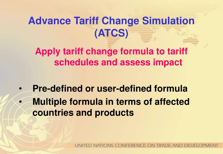 Advance Tariff Change Simulation