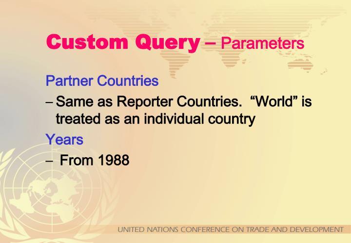 Custom Query
