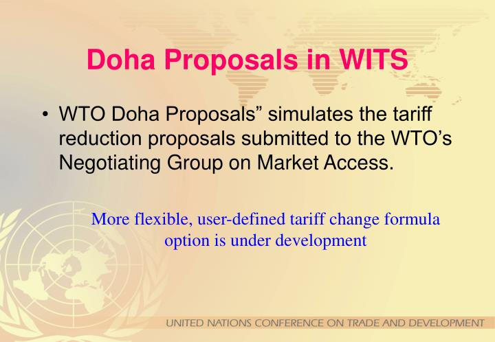 Doha Proposals in WITS
