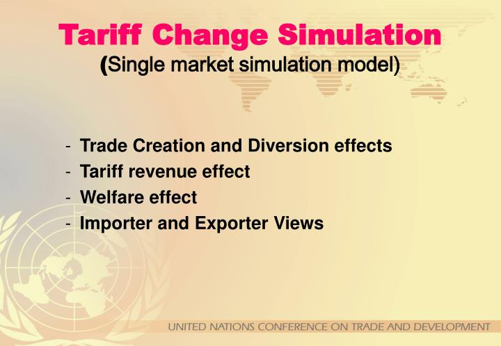 Tariff Change Simulation