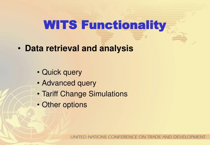 WITS Functionality