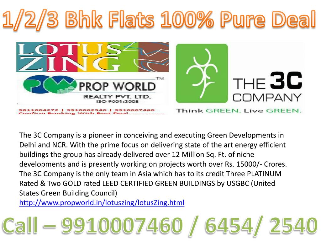 1/2/3 Bhk Flats 100% Pure Deal
