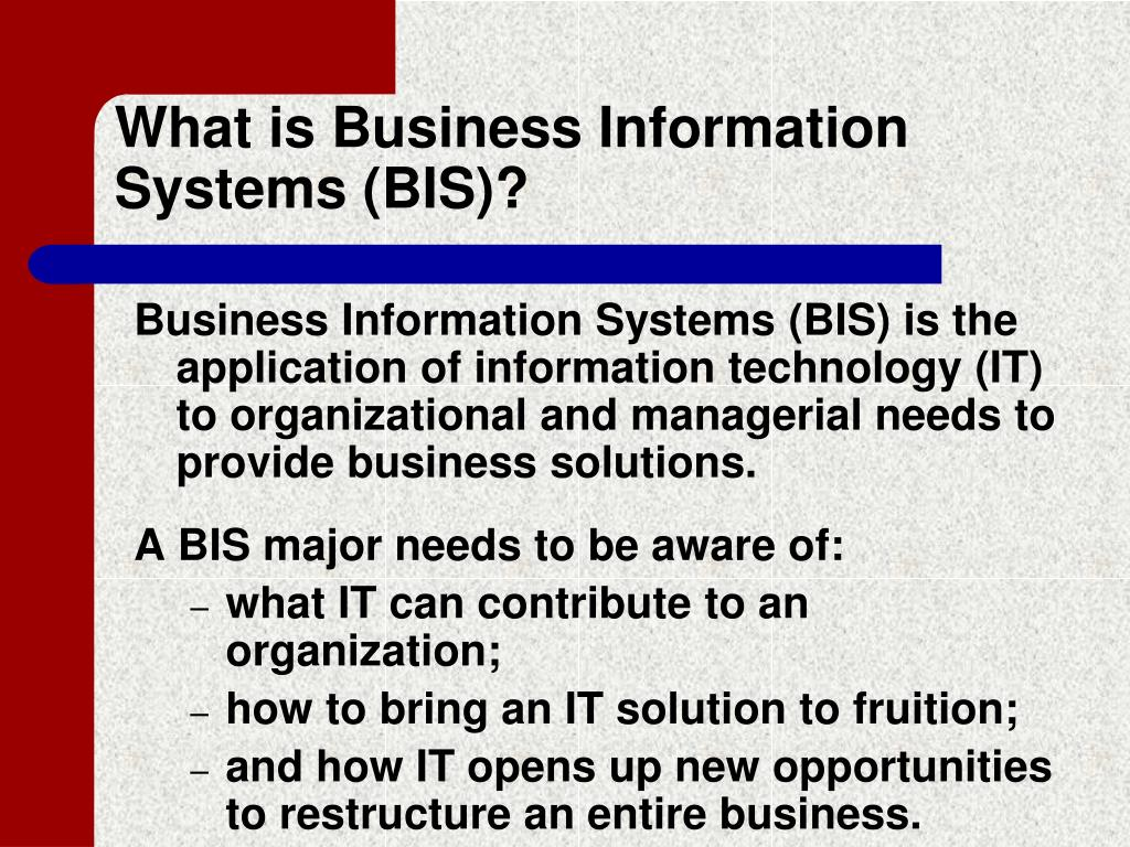 What is Business Information Systems (BIS)?