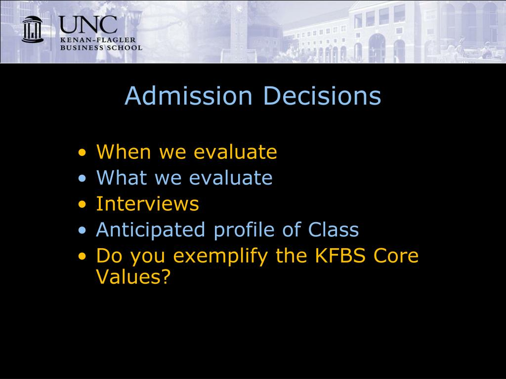 Admission Decisions