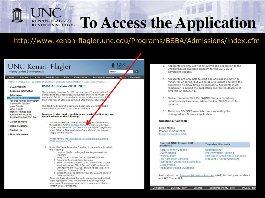 To Access the Application