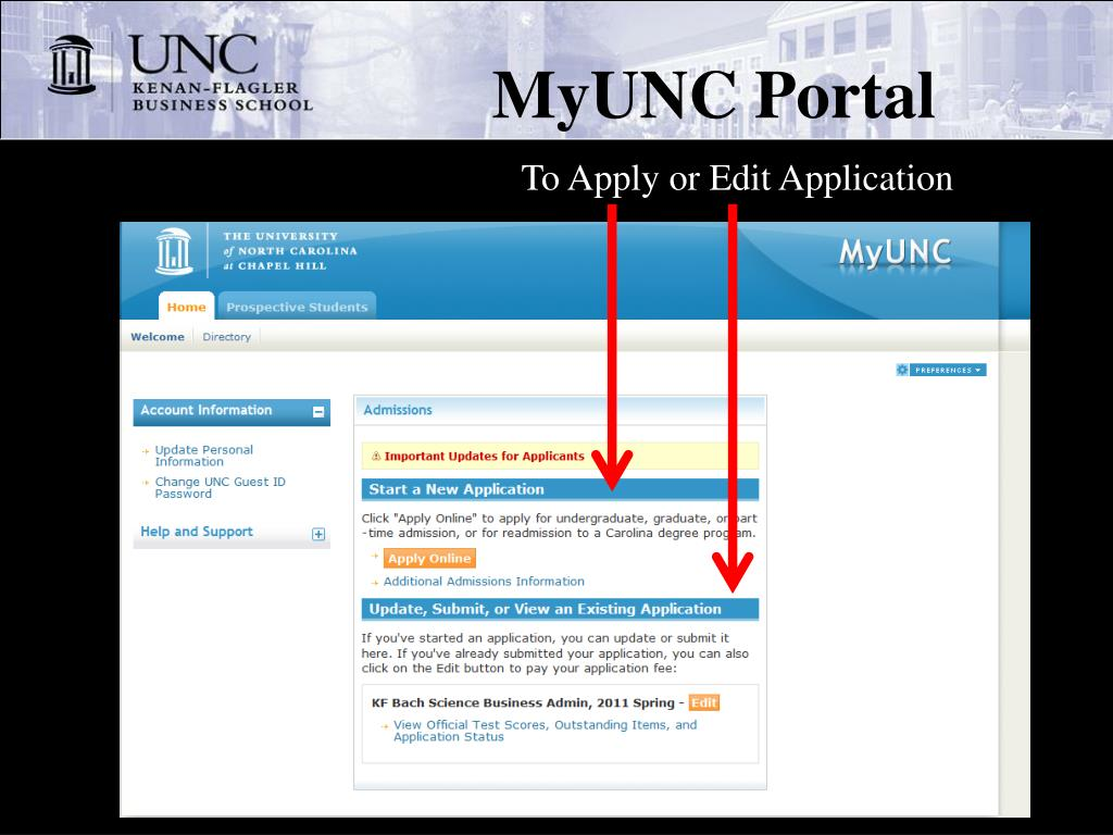MyUNC Portal