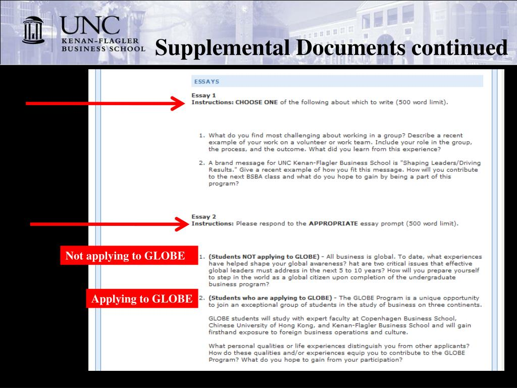 Supplemental Documents continued