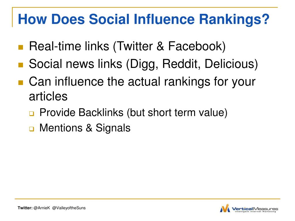 How Does Social Influence Rankings?