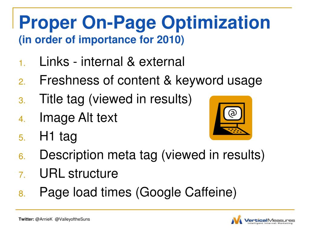 Proper On-Page Optimization