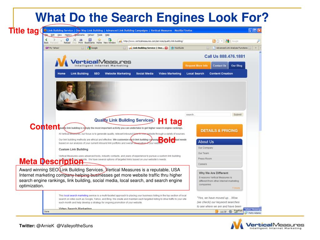What Do the Search Engines Look For?